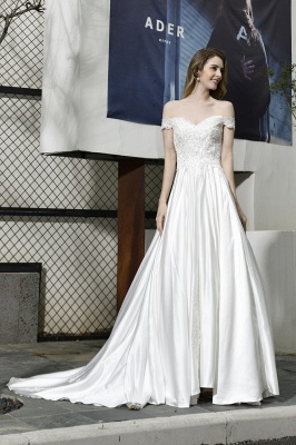 Simple wedding dresses cheap | Wedding dress A line_6