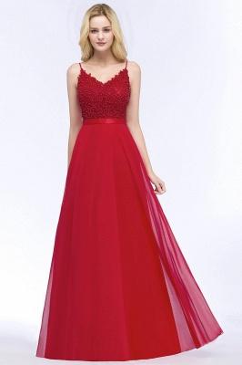 Evening dresses long V neckline | Red prom dresses_6