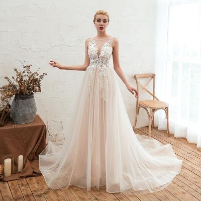 Schöne Hochzeitskleid A linie | Brautkleider Günstig Online Kaufen_11