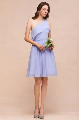 Lavender Brautjungfernkleider Kurz | Chiffon Kleider Günstig für Brautjungfern_4