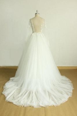 Schöne Brautkleider A Linie | Hochzeitskleider mit Ärmel_4