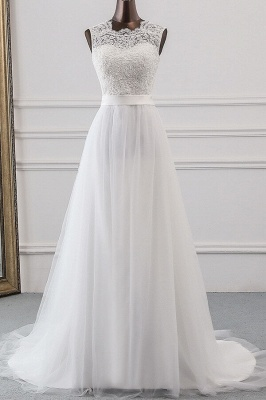 Designer wedding dress A line | Bridal wear with lace_1
