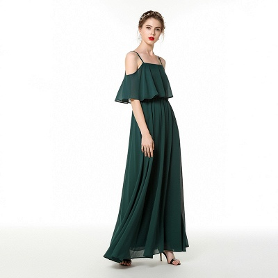 Evening dress green | Festive chiffon dresses_4
