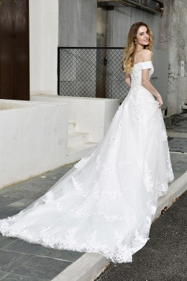 Beautiful wedding dresses with lace | Wedding dress A line_8