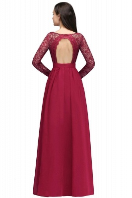 Evening dresses long wine red | Prom dresses with sleeves_3