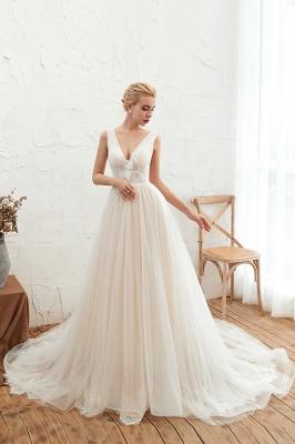 Elegante Hochzeitskleid A linie | Brautkleider Chiffon Günstig Online_4