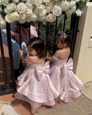 Günstige Blumenmädchenkleider Rosa | Blumenmädchen Kleider Hochzeit_2