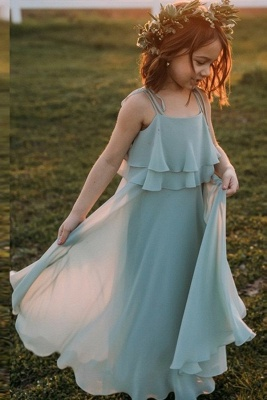 Blumenmädchenkleider für Kinder | Blumenmädchen Kleid Hellblau_1