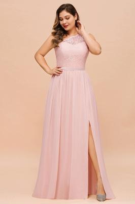 Elegante Brautjungfernkleider Lang Rosa | Brautjungfernkleid mit Spitze_5