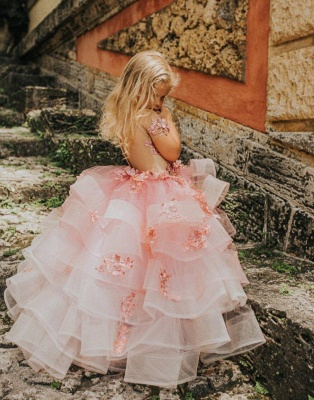 Flower girl dress dusty pink | Wedding flower girl dress_2