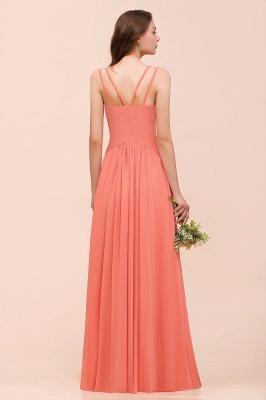 Schlichte Brautjungfernkleider Lang | Coral Brautjungfernkleid Günstig_3