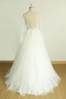 Schöne Brautkleider A Linie | Hochzeitskleider mit Ärmel_3