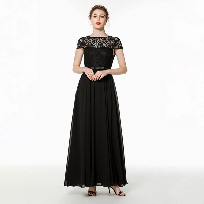 Elegant Evening Dress Long Black | Festive clothes