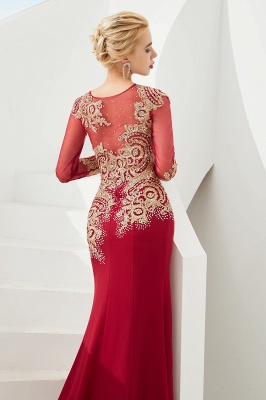 Evening dress long red | Prom dresses with sleeves_12