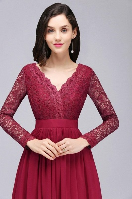 Evening dresses long wine red | Prom dresses with sleeves_6