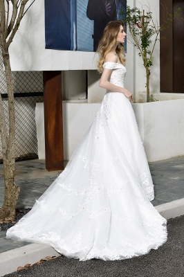 Beautiful wedding dresses with lace | Wedding dress A line_3
