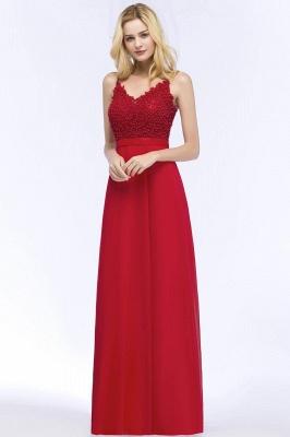 Evening dresses long V neckline | Red prom dresses_4