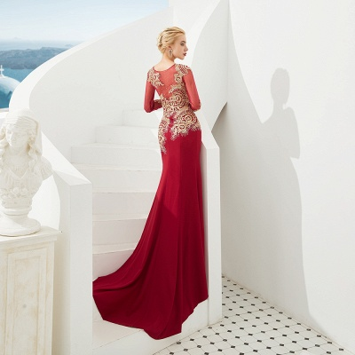 Evening dress long red | Prom dresses with sleeves_7
