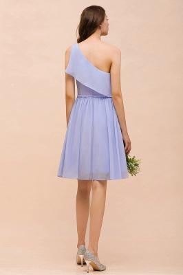 Lavender Brautjungfernkleider Kurz | Chiffon Kleider Günstig für Brautjungfern_3
