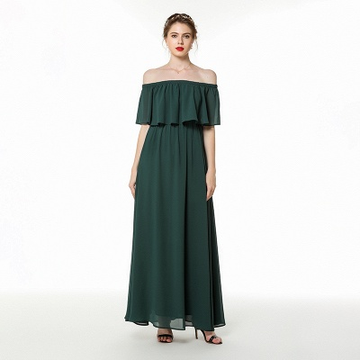 Chiffon dresses | Evening dress dark green_1