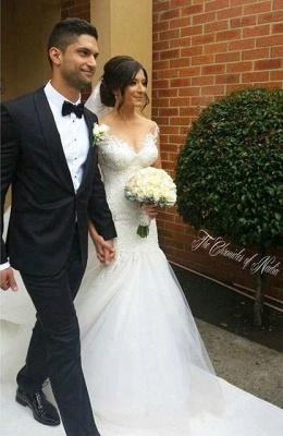 Made to measure wedding dresses white lace mermaid straps wedding fashions bridal fashions_2