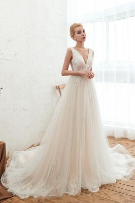 Elegante Hochzeitskleid A linie | Brautkleider Chiffon Günstig Online_5