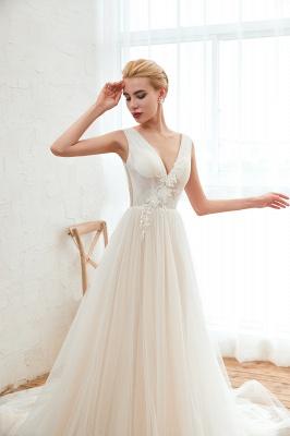 Elegante Hochzeitskleid A linie | Brautkleider Chiffon Günstig Online_9