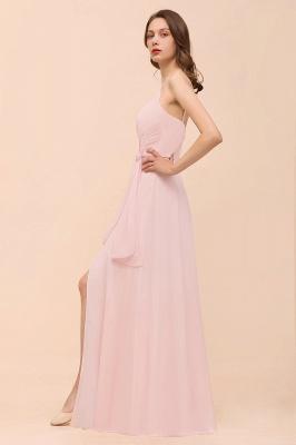 Rosa Brautjungfernkleider Günstig   Langes Brautjungfernkleid Chiffon_9