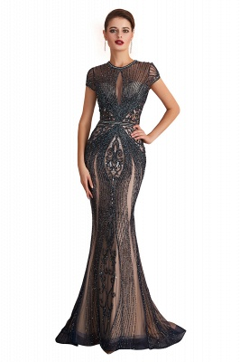 Prom Dresses Long Black | Evening dress with glitter_1