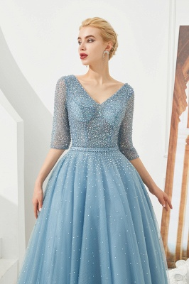 Evening dresses blue | Prom dresses long with sleeves_5