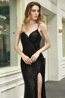 Evening dress long black | Prom dresses with glitter_12