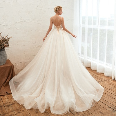 Elegante Brautkleider A linie | Hochzeitskleider mit Spitze Online_20
