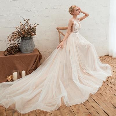 Schöne Hochzeitskleid A linie | Brautkleider Günstig Online Kaufen_10