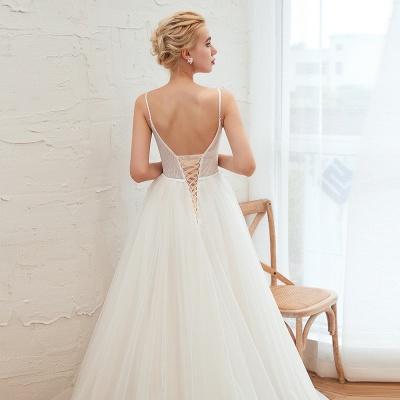 Modern Brautkleid A linie   Tülle Hochzeitskleider mit Spitze_15