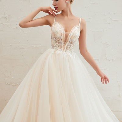 Elegant wedding dresses A line | Wedding dresses with lace online_22