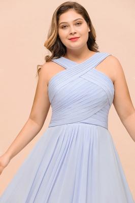 Lavender Brautjungfernkleider Große Größe | Chiffon Kleider Lang Günstig_9
