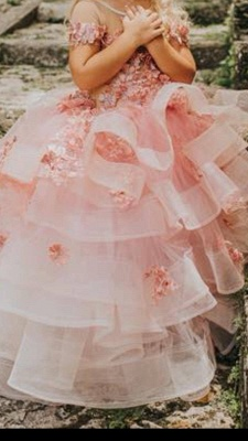 Flower girl dress dusty pink | Wedding flower girl dress_3