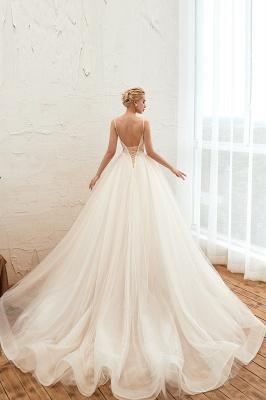 Elegante Brautkleider A linie | Hochzeitskleider mit Spitze Online_15