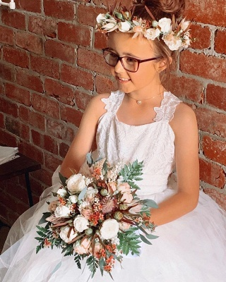Flower girl dress lace | Flower girl dresses cheap tulle_2