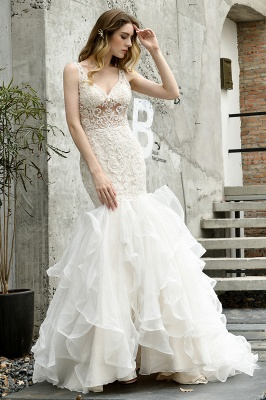 Fashion wedding dress with lace | Mermaid wedding dress_1