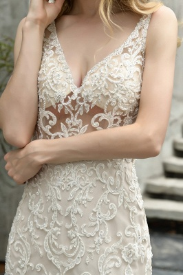Fashion wedding dress with lace | Mermaid wedding dress_8