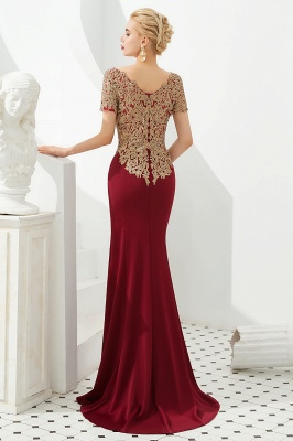 Evening dresses long glitter | Red prom dresses with sleeves_5
