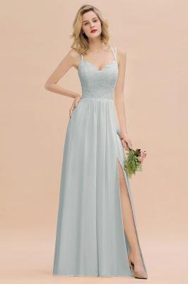 Coral Brautjungfernkleider Lang Günstig   Hochzeitsgäste Kleider_38