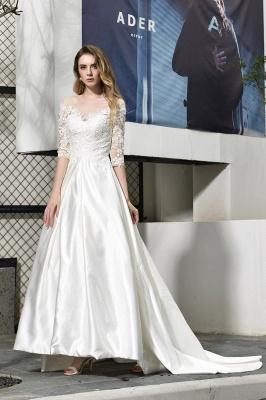 Standamt Hochzeitskleid A Linie | Brautkleider Lange Ärmel_6
