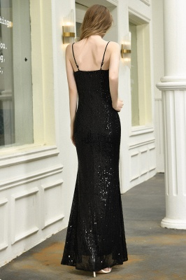 Evening dress long black | Prom dresses with glitter_4