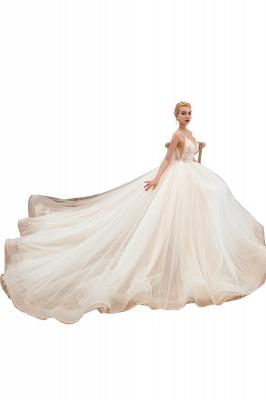 Elegante Brautkleider A linie | Hochzeitskleider mit Spitze Online_23