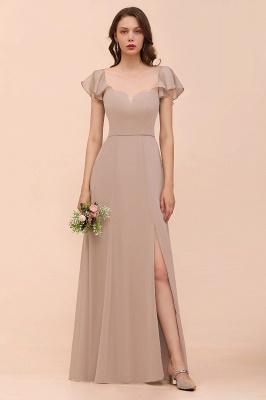 Champagne Brautjungfernkleider Lang | Günstiges Kleid Für Brautjungfern_1