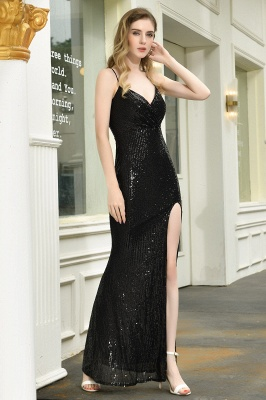 Evening dress long black | Prom dresses with glitter_9
