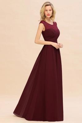 Elegante Brautjungfernkleider Lang Weinrot | Brautjungfernkleid mit Spitze_5