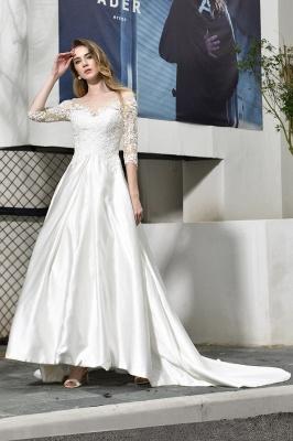 Standamt Hochzeitskleid A Linie | Brautkleider Lange Ärmel_2